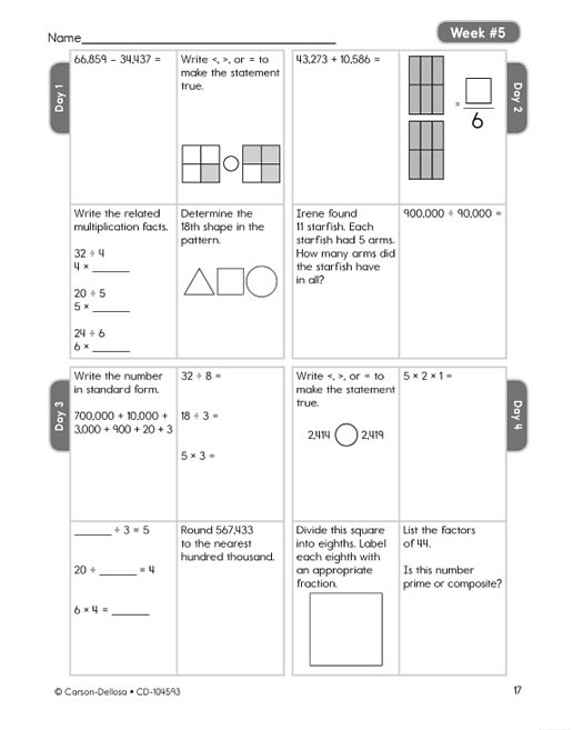 Home » Products » Common Core Math 4 Today Grade 4 » Preview