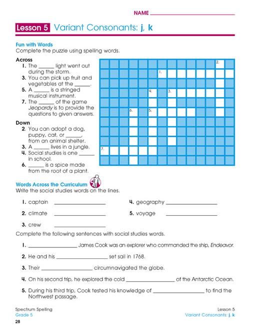 spectrum spelling grade 5 pdf
