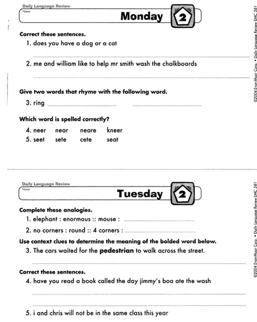 516 x 646 jpeg 49kB, Home » Products » Daily Language Review Grade 3 ...