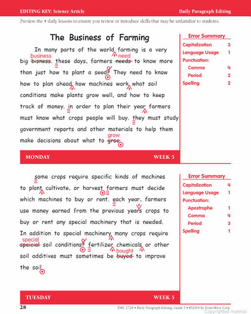 Grading 5 Paragraph Essay Six Trait Writing Pictures