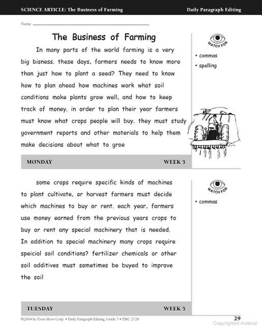 Home » Products » Daily Paragraph Editing Grade 5 » Preview