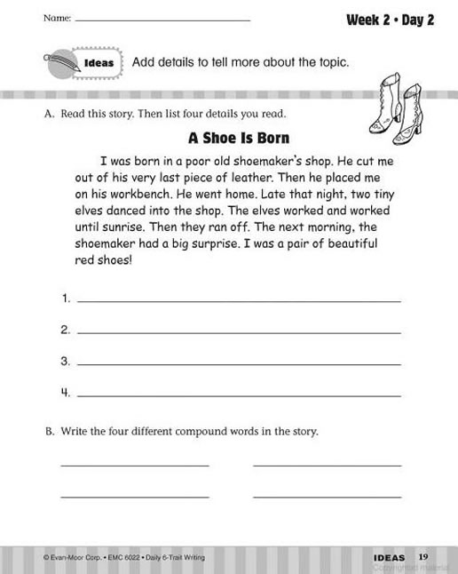 daily 6 trait writing grade 6 pdf