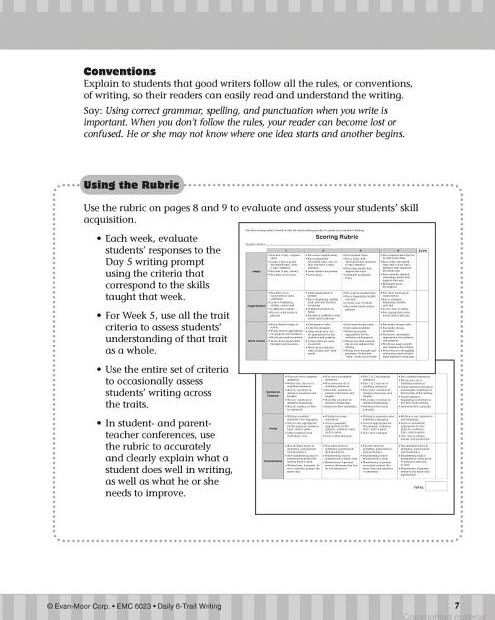 daily 6 trait writing grade 3 pdf