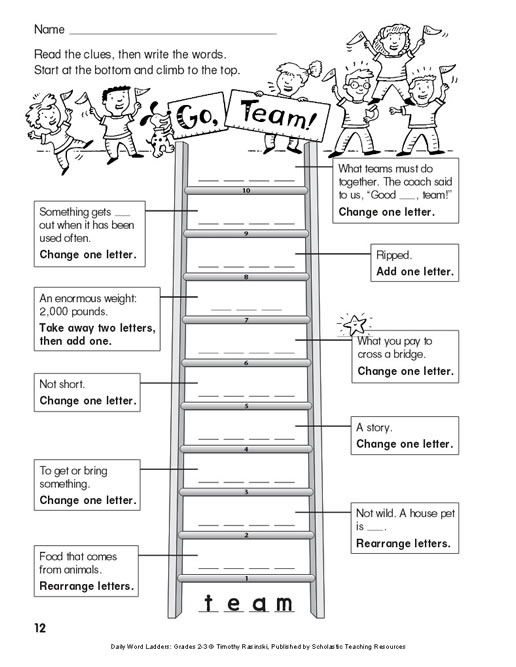 Daily Word Ladders Grades 2 3