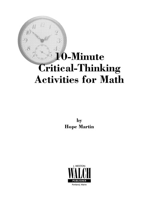critical thinking math games