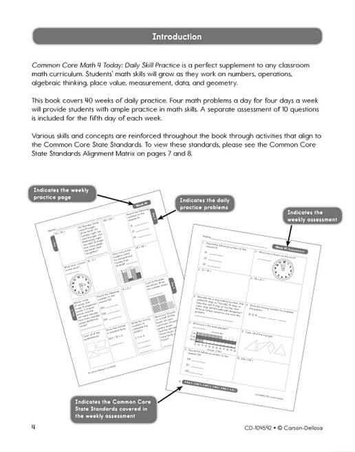 Math 4 today grade 3 worksheets Math 4 Today Grade 3 Donna – Carson-dellosa Worksheets