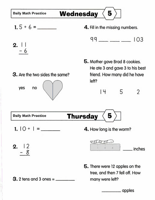 Worksheets Math Quiz Grade 2 daily math practice grade 2 preview page 15