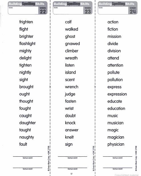 Grade 4 Spelling Program - Scalien