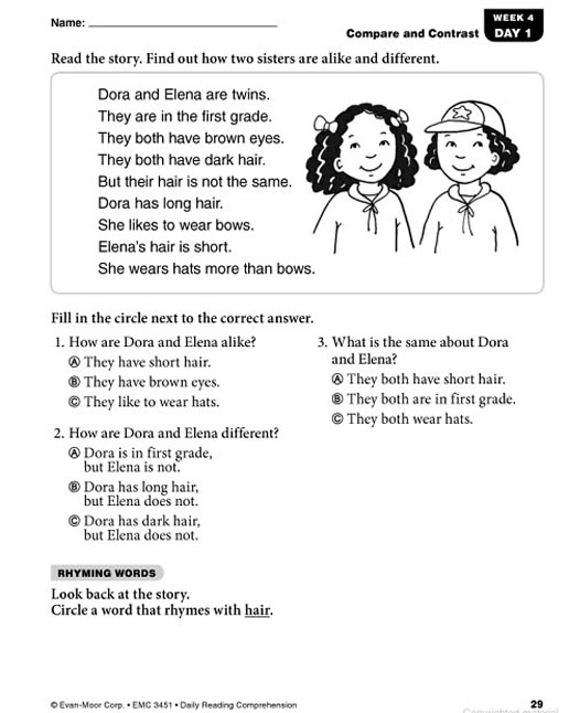 Grade 1 reading passages pdf free first grade worksheets reading