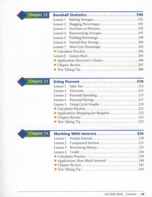 AGS Life Skills Math / -Table-of-contents-p5