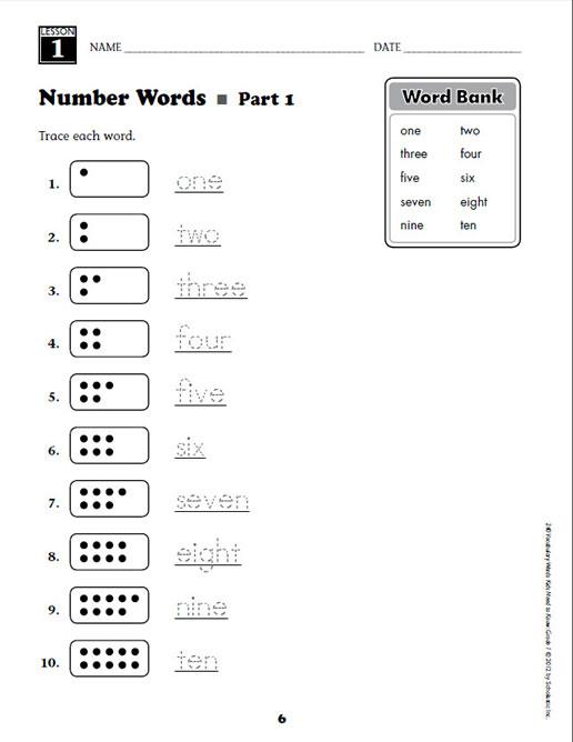 Worksheets Vocabulary Words For Kids 240 vocabulary words kids need to know grade 1 preview page 3