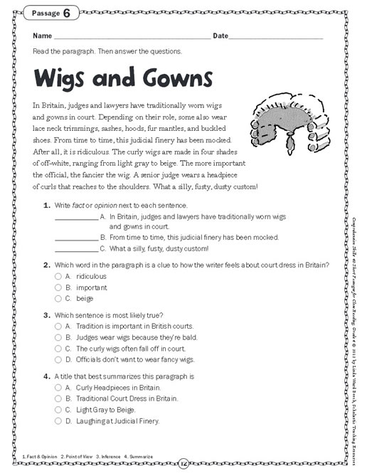 Printables Comprehension Stories For Grade4 for grade 4 scalien stories scalien