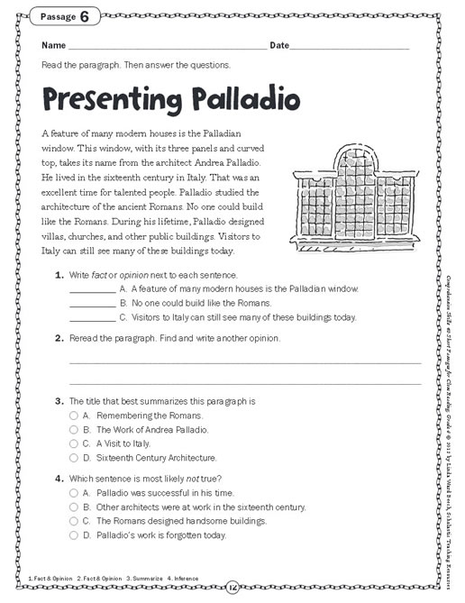 Worksheets Short Comprehension Passages For Grade 4 comprehension ...