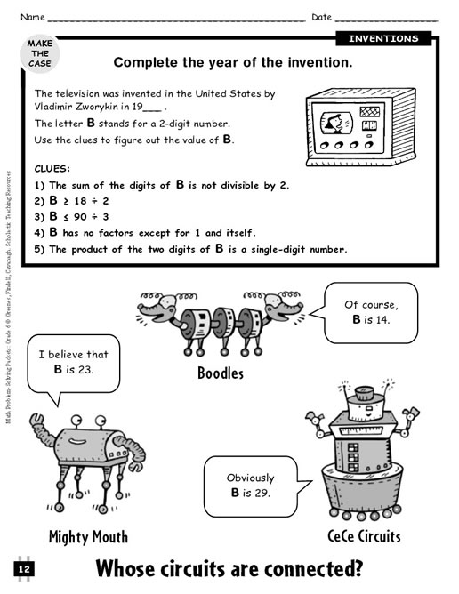 6th Grade Problem Solving Worksheets : Math problem solving grade
