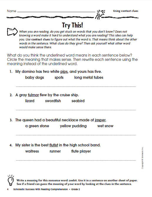 2 Grade Reading Comprehension - Vivian Chambers blog