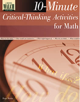critical thinking skills questions in mathematics Developing critical thinking skill in mathematics the research questions were are the processes of construction of critical thinking skills during the study.