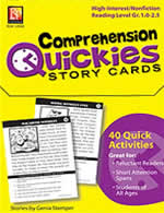 Comprehension Quickies Story Cards