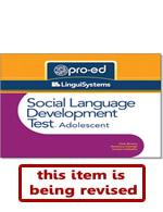 SLDT-A: Social Language Development Test-Adolescent