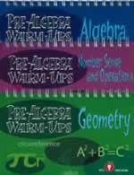 Algebra and Pre-Algebra Warm Ups
