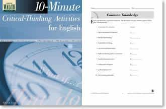 10 minute critical thinking activities for english classes 10-minute critical-thinking activities for english by deborah eaton, 9780825137976, available at book depository with free delivery worldwide.