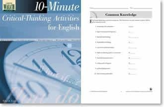 10 minute critical thinking activities for english classes 10 minute critical thinking activities for english grades 10 12 document about 10 minute critical thinking activities for english new middle class.