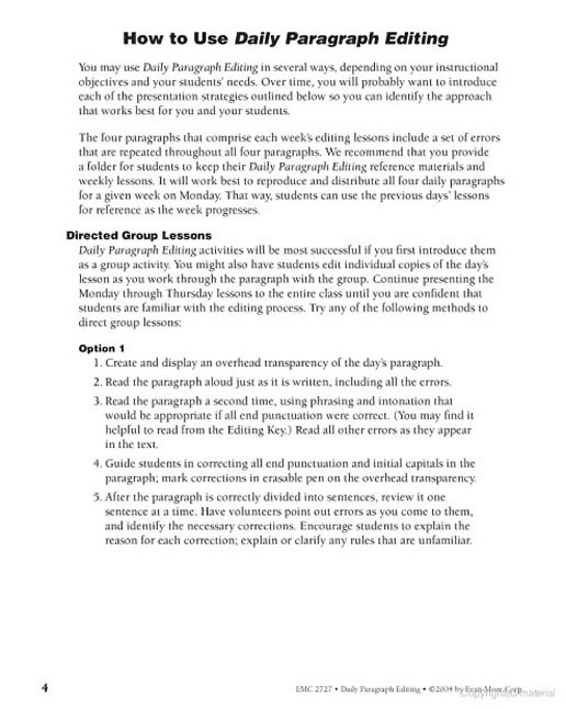 daily paragraph editing grade 4 Answers to daily paragraph editing grade 4 download the book answers to daily paragraph editing grade 4 or get online access easily and quickly.