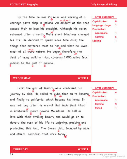 daily paragraph editing grade 3 Read and download daily paragraph editing grade 3 emc 2726 free ebooks in pdf format - the most powerful idea in the world epub this sorrowful life script a kestrel.