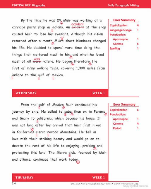 daily paragraph editing grade 6 Daily paragraph editing, grade 6, english/writing, grammar skills (grammar/usage/mechanics), editing, daily paragraph editing.