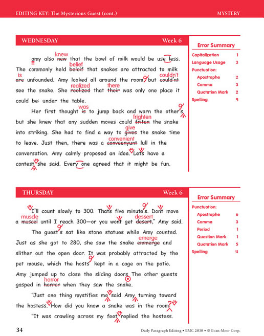 daily paragraph editing grade 3 Tips for building your homeschool language arts curriculum within teacherfilebox using evan-moor's daily paragraph editing this book is organized into 36 we.
