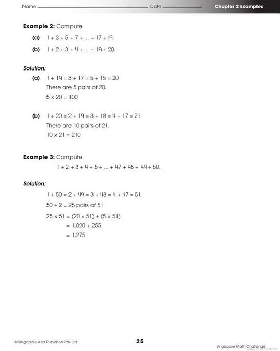 Singapore Math Challenge Grade 3