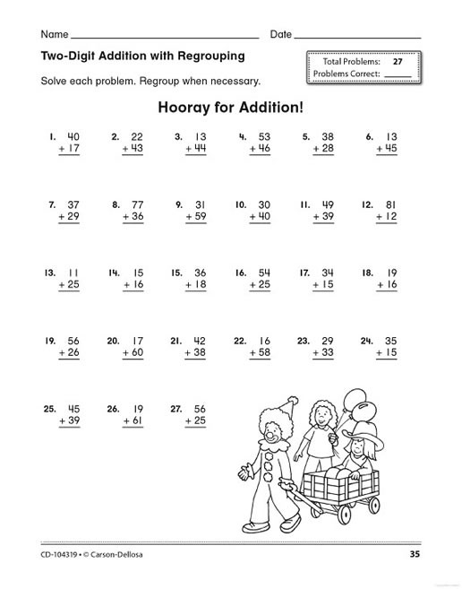 Worksheets Math Tests For Grade 2 math practice grade 2 3 preview page 30