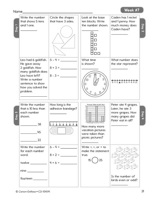 Amazon.com: Carson Dellosa Common Core 4 Today Workbook, Math ...