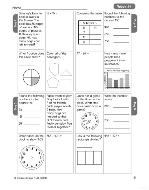 Common Core Math 4 Today Grade 3 – Grade 4 Common Core Math Worksheets