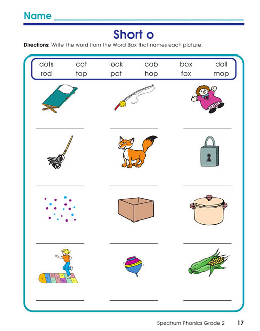 Spectrum Phonics Workbook Grade 2 | Carson-Dellosa Publishing
