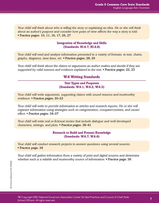 common core language arts and math grade 5 spectrum