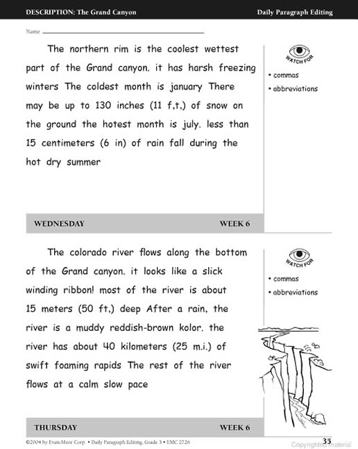 Paragraph Editing Worksheets Cockpito – Paragraph Correction Worksheets