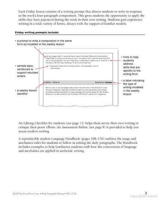 Daily Paragraph Editing Grade 5. Preview Page 3. Worksheet. Language Handbook Worksheets Answer Key Grade 9 At Mspartners.co