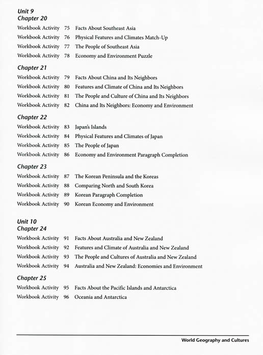 Ags world geography and cultures workbook preview page 5 sciox Images