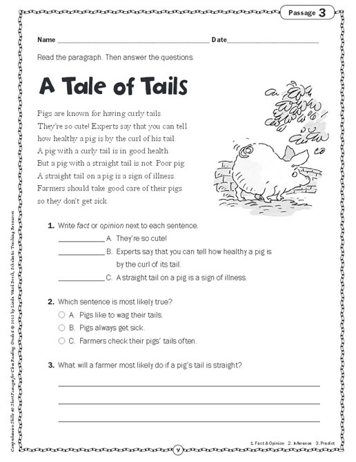 Comprehension Skills: Short Passages for Close Reading Grade 2