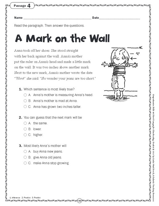 Printables. Short Comprehension Passages For Grade 4. Gozoneguide ...