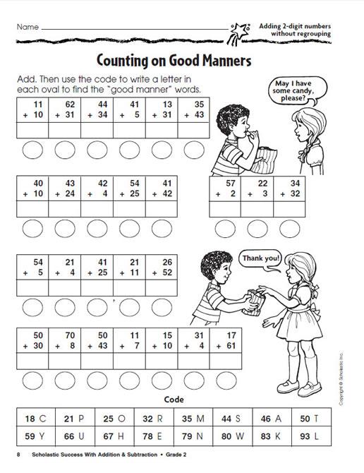 Number Names Worksheets subtraction grade 2 : Addition & Subtraction Grade 2