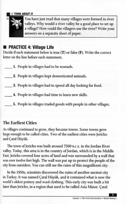 Power Basics World History I Student TextBook