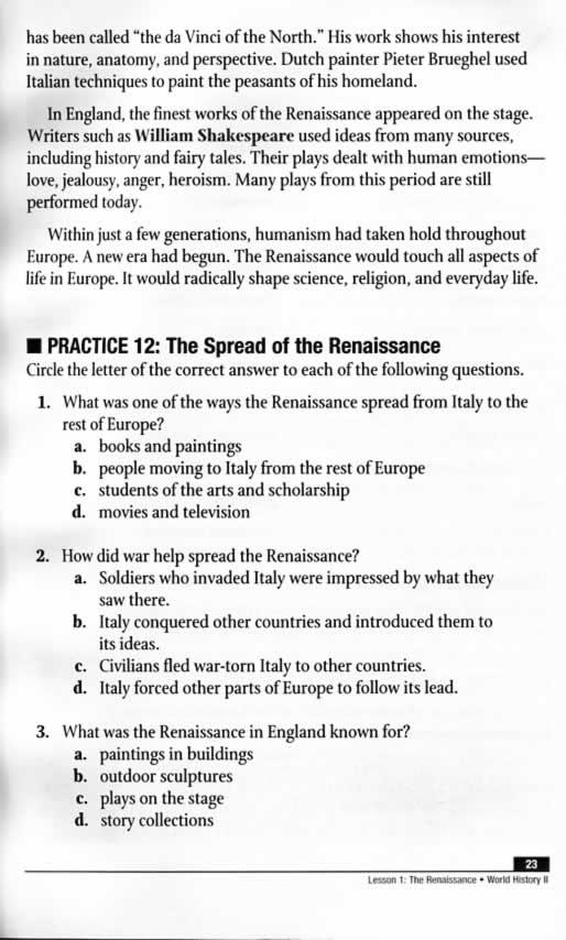 Power Basics World History II Student TextBook