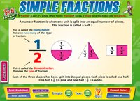 Simple Fractions Interactive Software