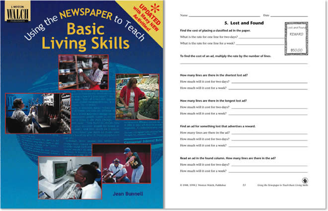Using the Newspaper to Teach Basic Living Skills – Independent Living Worksheets