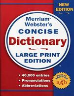 Concise Dictionary, Large Print Edition