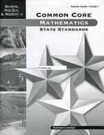 Mastery of Common Core State Standards Math Grade 3 Guide