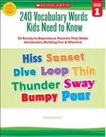 240 Vocabulary Words Kids Need to Know Grade 1