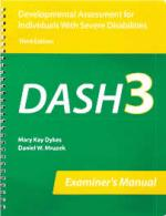 DASH-3 Developmental Assessment for Individuals with Severe Disabilities