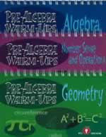 Algebra and Pre-Algebra Warm Ups